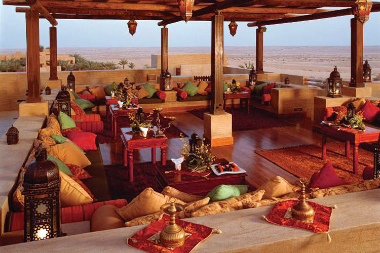 Restaurant in the desert looking over the dunes