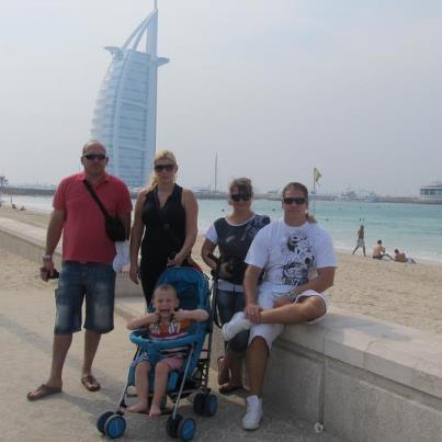 Tourist image of the iconic building called Burj Al Arab