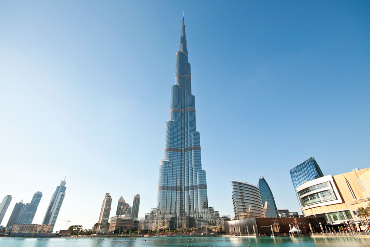 Tallest building of the world called Burj Khalifa in Dubai
