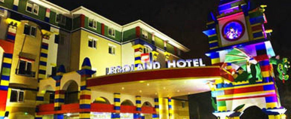 Very colourful hotel looking like the lego bricks