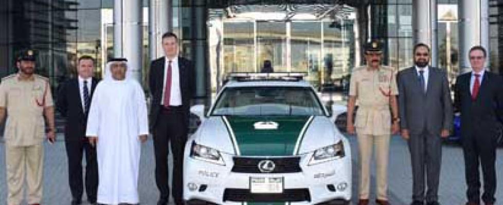Dubai police and their new Lexus car