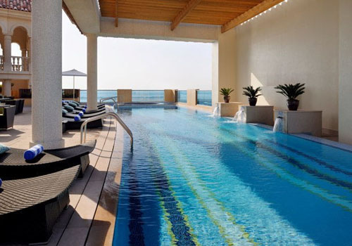 Pool at the Marriott Al Jaddaf