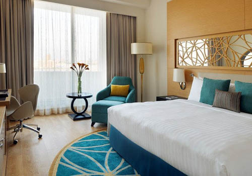 Room in the Marriott Al Jaddaf in Dubai
