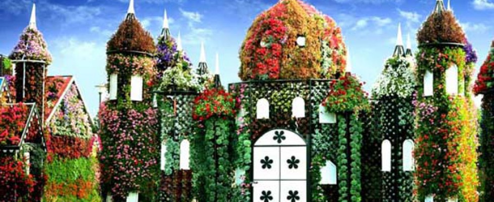 A palace made of flowers