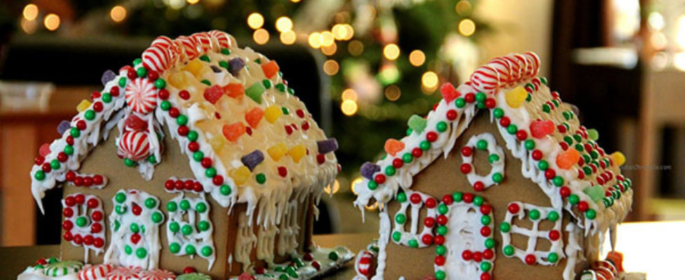 Two gingerbread houses